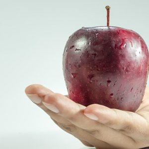 giving food apple